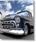 Blue 57 Stepside Chevy Metal Print