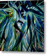 Blue Abstract Art Lorx Metal Print