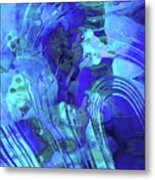 Blue Abstract Art - Reflections - Sharon Cummings Metal Print