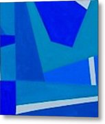 Blue Alert Detail 1 Metal Print