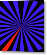 Blue And Black Abstract # 3 Metal Print