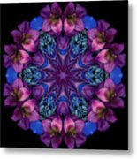 Blue And Burgundy Metal Print