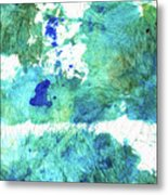 Blue And Green Abstract - Imagine - Sharon Cummings Metal Print
