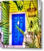 Blue And Green Metal Print