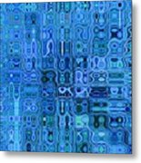 Blue And Green Quilt Metal Print