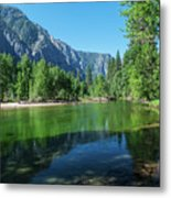 Blue And Green River Metal Print