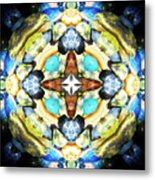 Blue And Green Stones 4 Metal Print