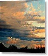 Blue And Orange Sunset Metal Print