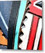 Blue And Red Metal Print