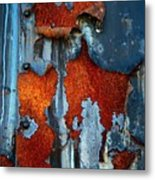 Blue And Rust Metal Print