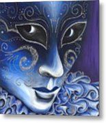 Blue And Sliver Carnival Flair  Metal Print