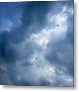 Blue And White Cloud Formations Metal Print