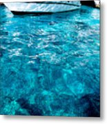 Blue And White Metal Print