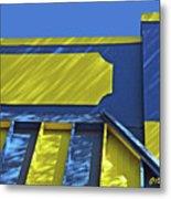Blue And Yellow Shadows Metal Print
