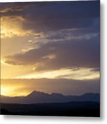 Blue And Yellow Sunset Metal Print