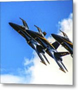 Blue Angel Fly By Metal Print