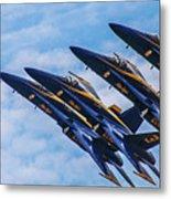 Blue Angels Ascending Metal Print