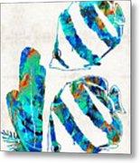 Blue Angels Fish Art By Sharon Cummings Metal Print
