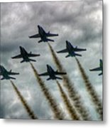 Blue Angels In Formation Metal Print