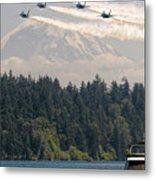 Blue Angels Over Lake Washington Metal Print