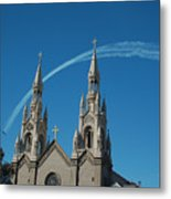 Blue Angels Soaring Metal Print by Suzanne Gaff