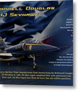 Blue Angels Ta-4j Skyhawk Metal Print