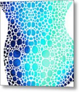 Blue Art - Colorforms 3 - Sharon Cummings  Metal Print