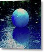 Blue Ball 4 Metal Print