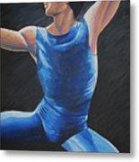 Blue Ballerino Metal Print