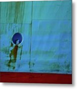 Blue Barge Metal Print