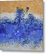 Blue Beach Bubbles Metal Print