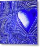 Blue Beats Metal Print