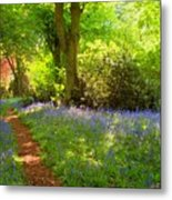Blue Bells  Flower Metal Print