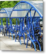 Blue Bicycle Berth Metal Print