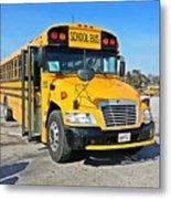 Blue Bird Vision School Bus Metal Print