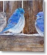 Blue Birds Fly Metal Print