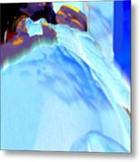 Blue Blanket Metal Print