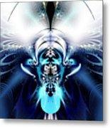 Blue Blazes Metal Print