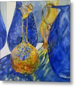 Blue Blenko Metal Print