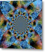 Blue Bling Metal Print