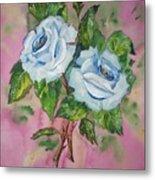 Blue Blue Roses Metal Print