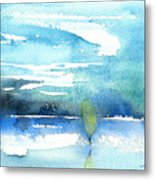 Blue Blue The World Is Blue Metal Print