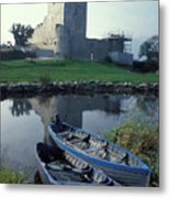 Blue Boats In Ireland Metal Print