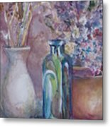 Blue Bottle Metal Print