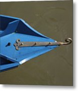 Blue Bow In Venice Metal Print
