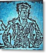 Blue Brad Metal Print