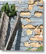 Blue Brick Metal Print