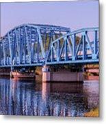 Blue Bridge Georgia Florida Line Metal Print