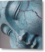 Blue Buddha Of Serenity Metal Print