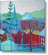 Blue Burlington Metal Print